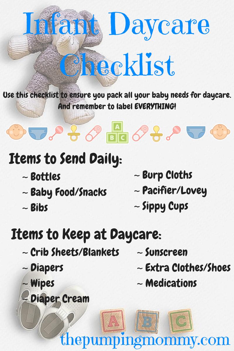 Infant-Daycare-Checklist