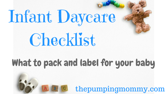 Infant Daycare Checklist – What to Pack and Label - The