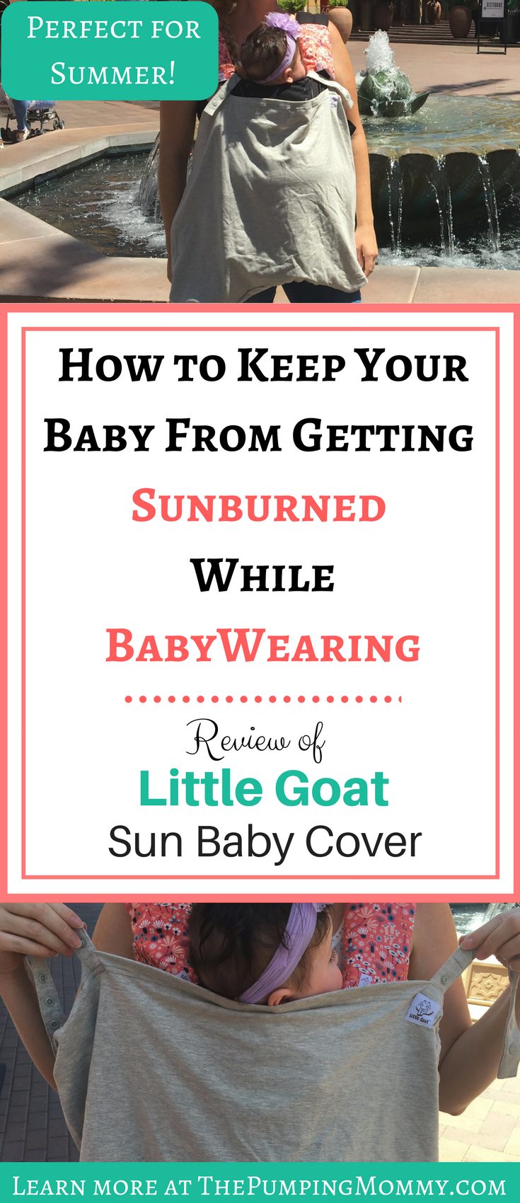 Best Baby Carrier Cover for the Summer