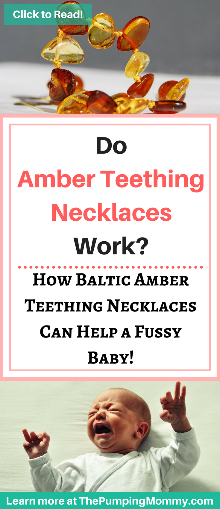 Bottle Feeding Issues Solved with Amber Teething Necklace
