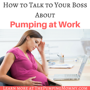 How to Talk to Your Employer About Pumping at Work