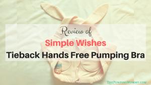 Simple Wishes Tieback Hands Free Pumping Bra