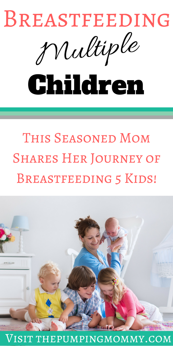 Breastfeeding Multiple Children: How the Journey is Unique Each Time - Many moms want to know if the issues they faced Breastfeeding will carry over to their next child. Breastfeeding Multiple Children doesn't always mean issues with each! This moms story of breastfeeding 5 children and the struggles with each is a great example!