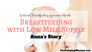 breastfeeding with low milk supply